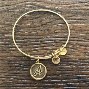 Alex and ani initial A bracelet